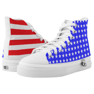 """Stars and Stripes"" ZIPZ® High Tops Printed Shoes"