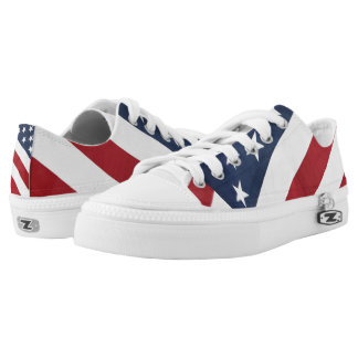 Stars and Stripes Zipz Low Top Tennis Shoes Printed Shoes