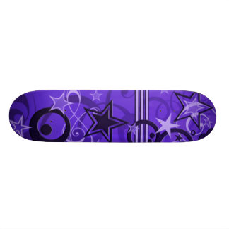 stars and swirls 21.6 cm skateboard deck