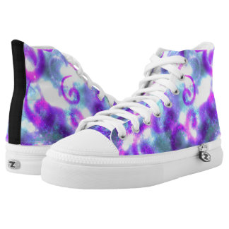 Stars and Swirls High Tops Printed Shoes