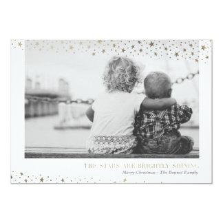 Stars Are Brightly Shining Holiday Photo Card 13 Cm X 18 Cm Invitation Card