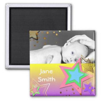 Stars Baby Photo Keepsake Magnet