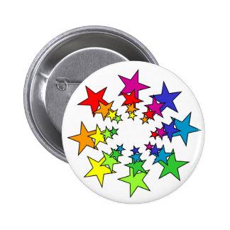 Stars 6 Cm Round Badge