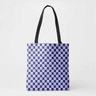 """Stars & Checks"" Blue Tote Tote Bag"