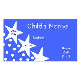 Stars Children s Calling Card Business Card Templates