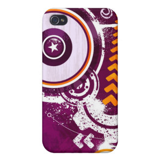 Stars & Circles Illustration Case For iPhone 4