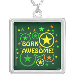 """STARS & CIRCLES necklace - """"born awesome"""""""