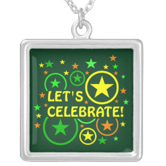 "STARS & CIRCLES necklace - ""Let's celebrate!"""