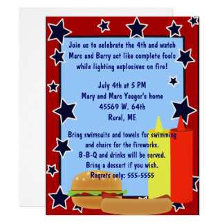 Stars Cookout Invitation