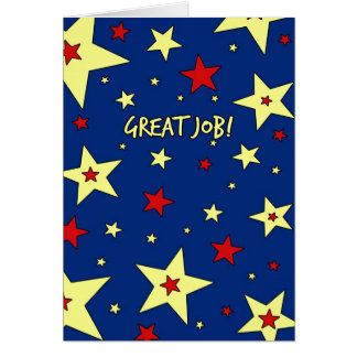 Stars Employee Appreciation Great Job Card