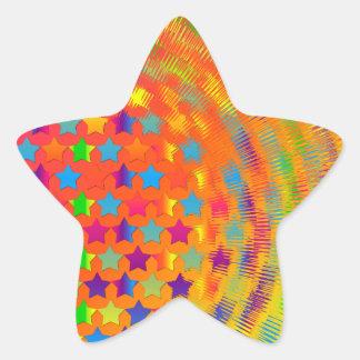 Stars Exploded Star Sticker