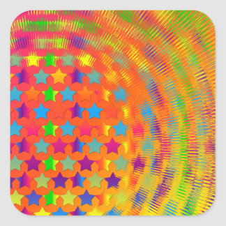 Stars Exploded Square Sticker