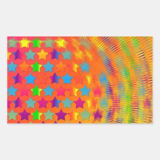 Stars Exploded Rectangle Sticker