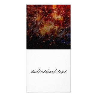 stars falling down abstract photo card template