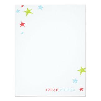 Stars flat stationery card 11 cm x 14 cm invitation card
