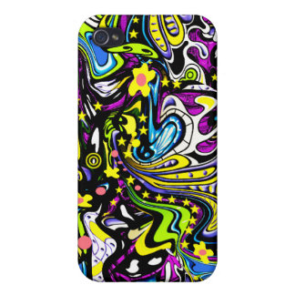 Stars Flowers Psychedelic 60s iPhone 4/4S Case