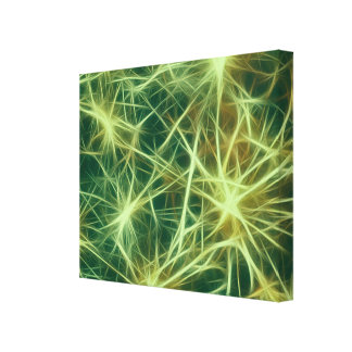 Stars,fractal,green Gallery Wrapped Canvas
