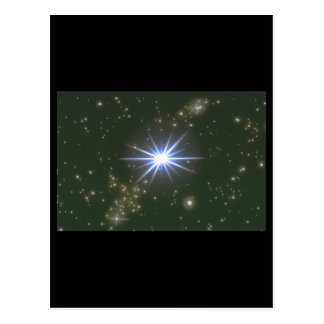 Stars. (galaxy;space;stars;color_Space Scenes Postcard