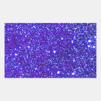 Stars Glitter Sparkle Universe Infinite Sparkly Rectangle Stickers