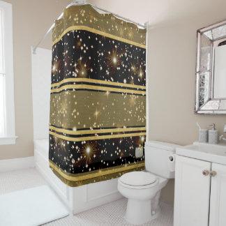 Stars Gold Plain Shower Curtain
