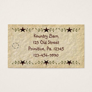 Stars Hang Tag Business Card