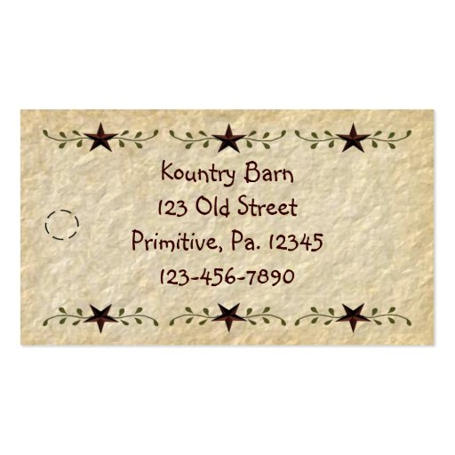 Stars Hang Tag Business Card Template
