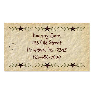 Stars Hang Tag Pack Of Standard Business Cards