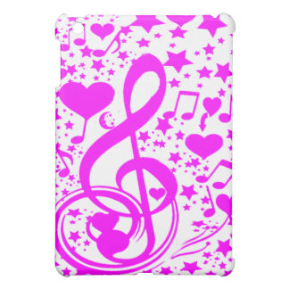 Stars,Hearts and The music notes-Pink_ iPad Mini Covers