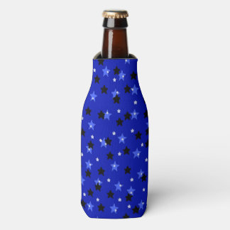 Stars in Black and Blue Bottle Cooler