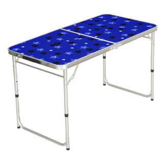 Stars in black and blue Table Pong Table
