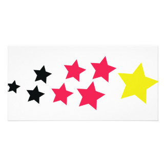 stars in german colours icon photo greeting card