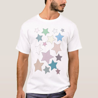 Stars in Muted Colours Adult Tee Shirt