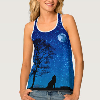 Stars in night sky tank top