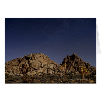 Stars in sky over desert 5 card