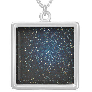 Stars in Space 2 Silver Plated Necklace