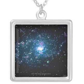 Stars in Space Silver Plated Necklace