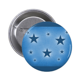 Stars in the Night Sky Button, Blue 6 Cm Round Badge