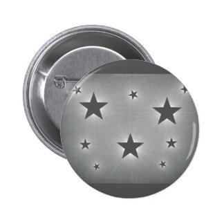 Stars in the Night Sky Button, Dark Gray 6 Cm Round Badge