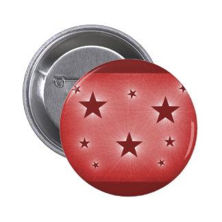 Stars in the Night Sky Button, Dark Red 6 Cm Round Badge