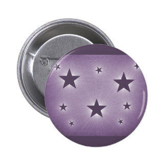 Stars in the Night Sky Button, Purple 6 Cm Round Badge