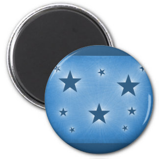 Stars in the Night Sky Magnet, Blue 6 Cm Round Magnet