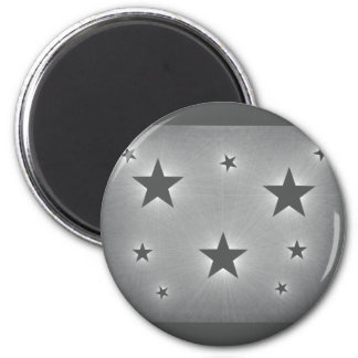 Stars in the Night Sky Magnet, Dark Gray 6 Cm Round Magnet