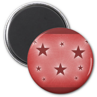 Stars in the Night Sky Magnet, Dark Red 6 Cm Round Magnet