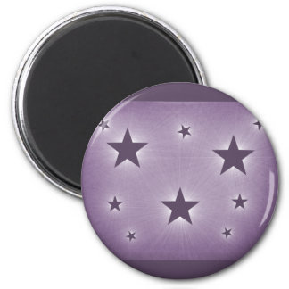 Stars in the Night Sky Magnet, Purple 6 Cm Round Magnet