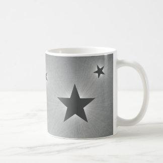 Stars in the Night Sky Mug, Dark Gray Basic White Mug