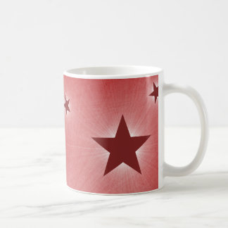 Stars in the Night Sky Mug, Dark Red Basic White Mug