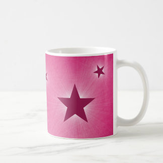 Stars in the Night Sky Mug, Magenta Basic White Mug