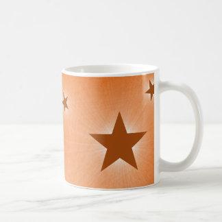 Stars in the Night Sky Mug, Orange Basic White Mug