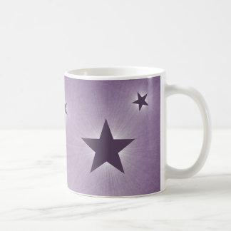 Stars in the Night Sky Mug, Purple Basic White Mug
