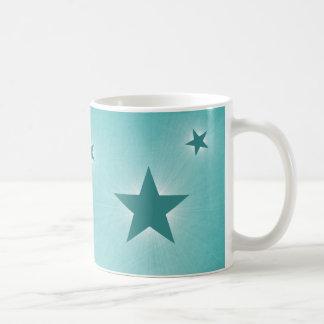 Stars in the Night Sky Mug, Teal Basic White Mug